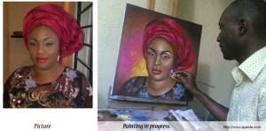 portrait painting by ayeola ayodeji abiodun awizzy.