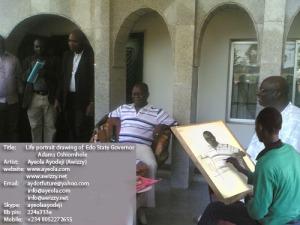 Ayeola ayodeji drawing Oshiomhole